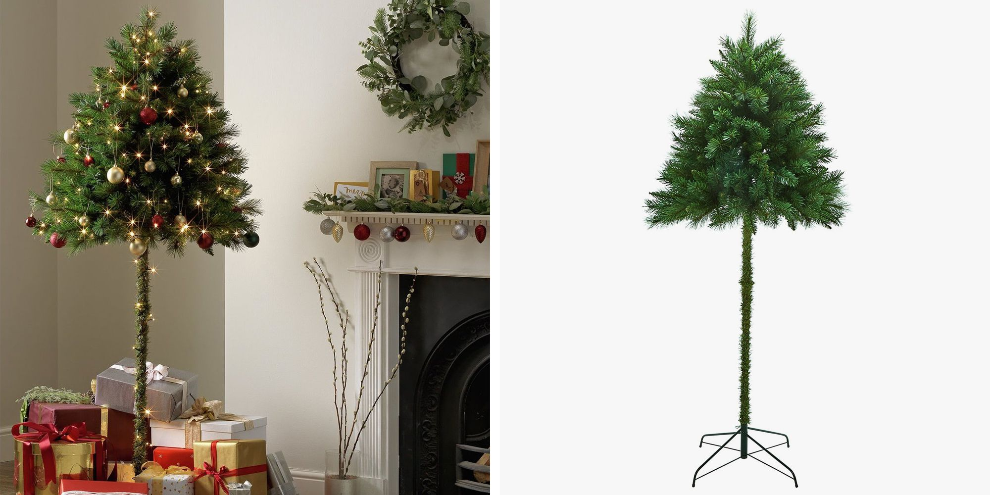 Half Christmas Trees Could Solve The Problem Of Pets And Toddlers
