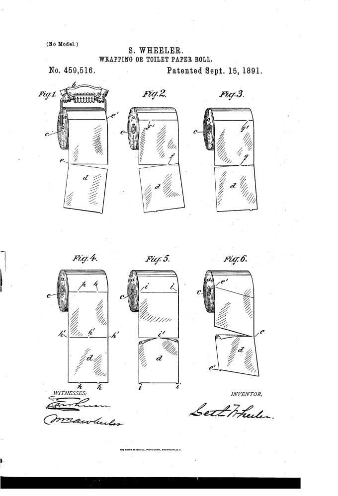 the original patent for toilet paper finally solves the u201cover vs underu201d debate